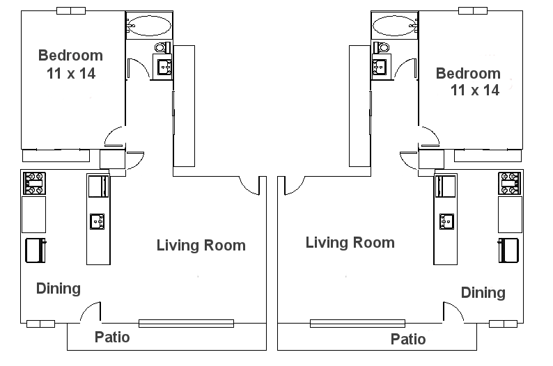 One Bedroom Colonial 600